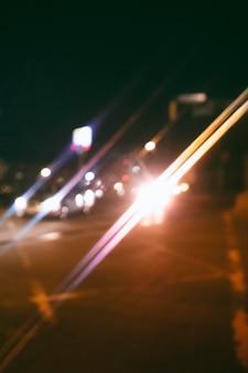 夜の不思議な街の明かり
