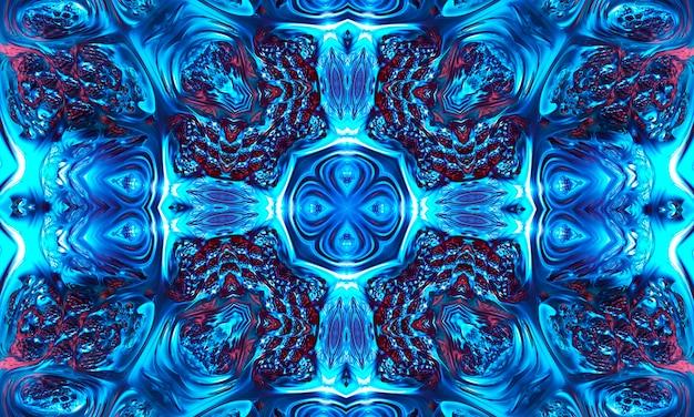 水色の背景の神秘的な十字架の神秘的なイメージのさまざまな兆候。画像や動画に最適な背景アートワーク。天の飾り、神の象徴。