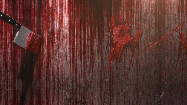 Мистический фон ужасов с темной кровью, абстрактный фон. роскошная и элегантная 3d иллюстрация ужасов и темы хэллоуина