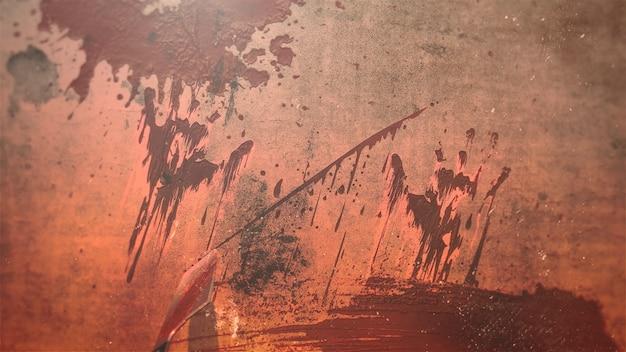 Мистический фон ужасов с темной кровью и пятнами, абстрактный фон. роскошная и элегантная 3d иллюстрация ужасов и темы хэллоуина