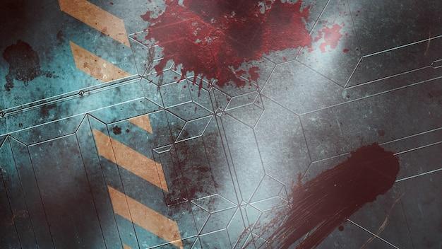 Мистический фон ужасов с темной кровью на стене, абстрактный фон. роскошная и элегантная 3d иллюстрация ужасов и темы хэллоуина