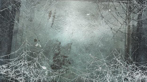 어두운 거미줄, 추상적인 배경으로 신비로운 공포 배경. 호러와 할로윈 테마의 고급스럽고 우아한 3d 일러스트