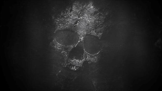 Мистический фон ужасов с привидениями и темным черепом. с праздником абстрактный фон. роскошный и элегантный стиль 3d иллюстрации для праздничного шаблона