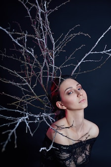 Mystical portrait of an armenian woman makeup
