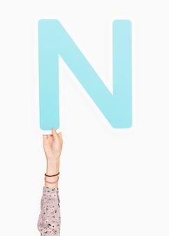 手紙nを手に