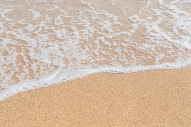 砂浜のnackgroundの海の波