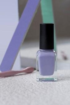 Concetto di cura delle unghie con articoli per unghie