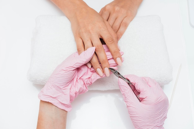 Nail hygiene and care on cloth