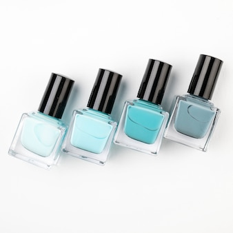 Nail polish composition in flat lay
