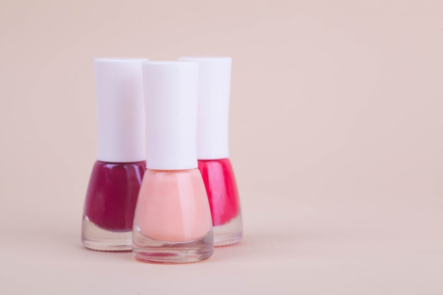 Nail polish three bottles