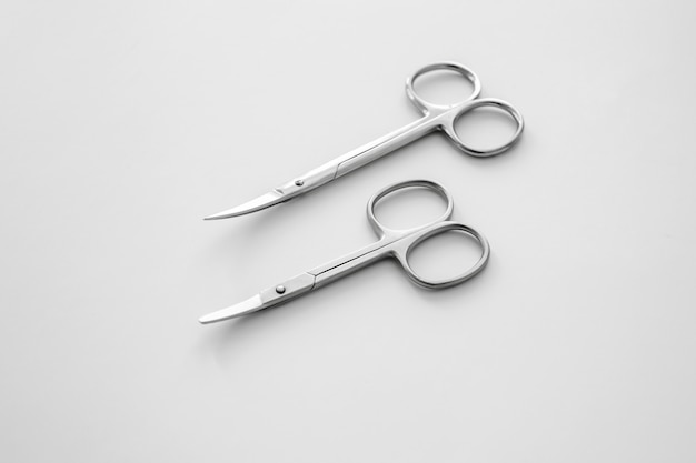 Nail scissors are on the table