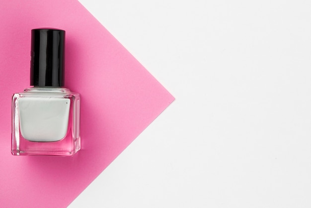 Nail varnish in flat lay