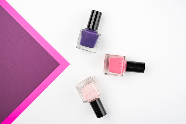 Nail varnish with copy space
