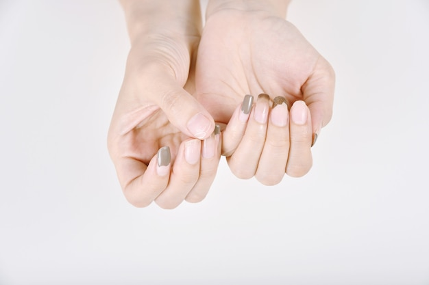 Nails fungal and bacteria infection from dirty manicure salon tools