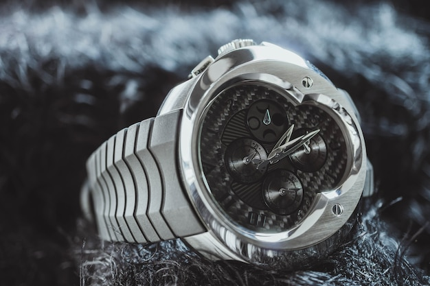 Nakhon ratchasima, thailand - july 31, 2018 : franc vila chronograph watch