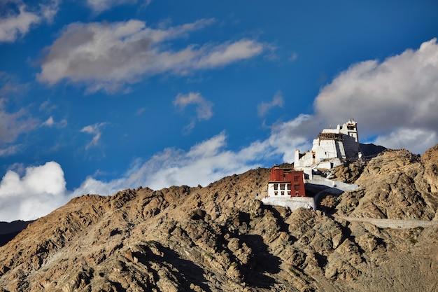 Namgyal tsemo gompa and fort. leh, ladakh,