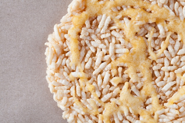 Nang let is a name of rice cake round and flat sweetmeat is a dessert in thailand