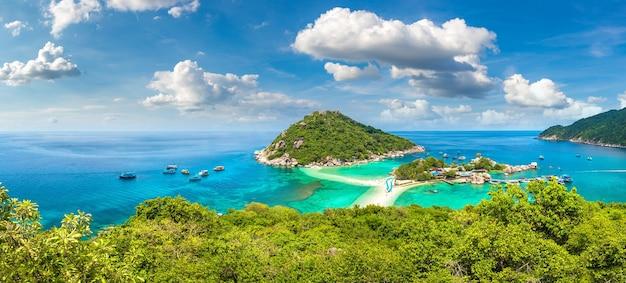Nang yuan island in koh tao in thailand