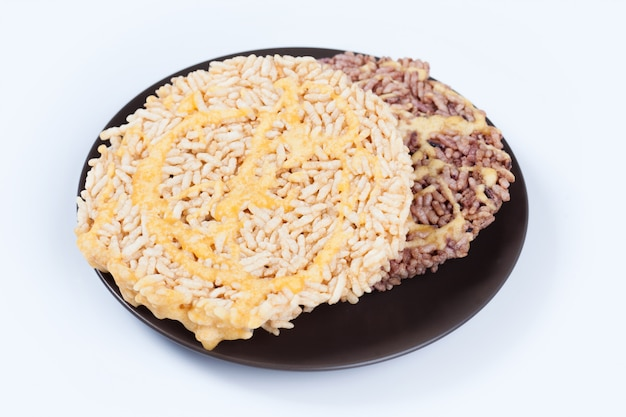 Nanglet is a name of rice cake round and flat sweetmeat is a dessert in thailand