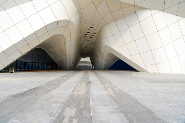 Nanjing, jiangsu,china-september 25, 2020: architectural features of nanjing international youth cultural center