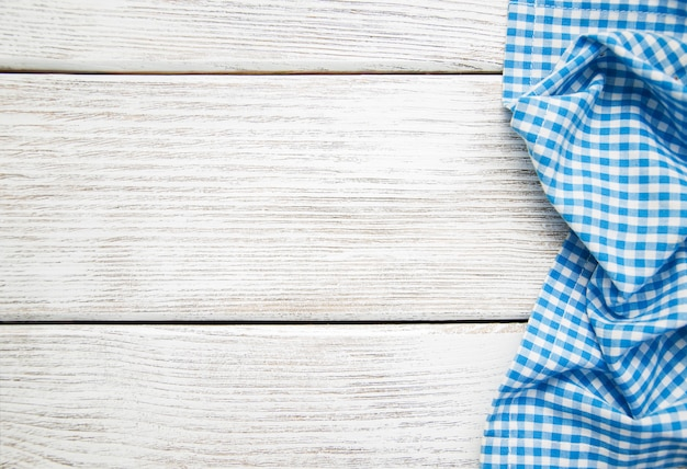Napkin on the wooden background