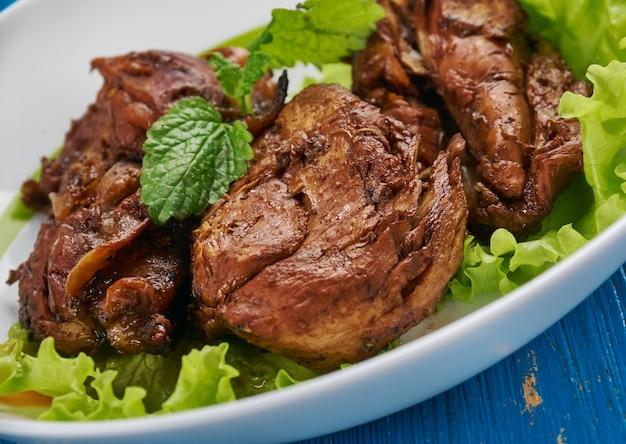 Nar soslu tavuk tarifi - chicken in pomegranate sauce, turkish dish