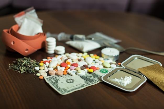 마약 의존성 개념.