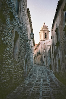 Narrow alleyway in italy