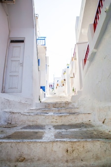 The narrow streets of greek islands