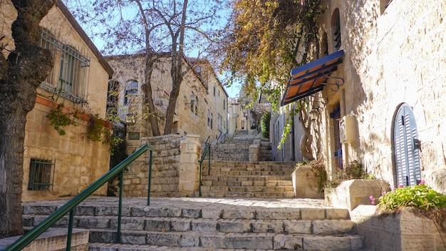 Narrow streets of old jerusalem, israel
