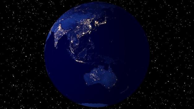 衛星画像(nasa)を使用したアニメーション。