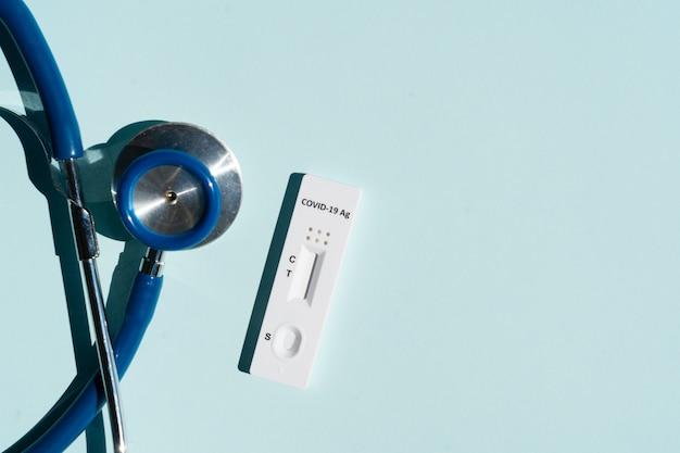 マスクと聴診器による鼻抗原covid19テスト