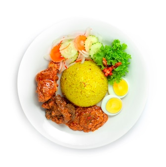 Nasi tumpeng mini ayam daging rice с куриной говядиной