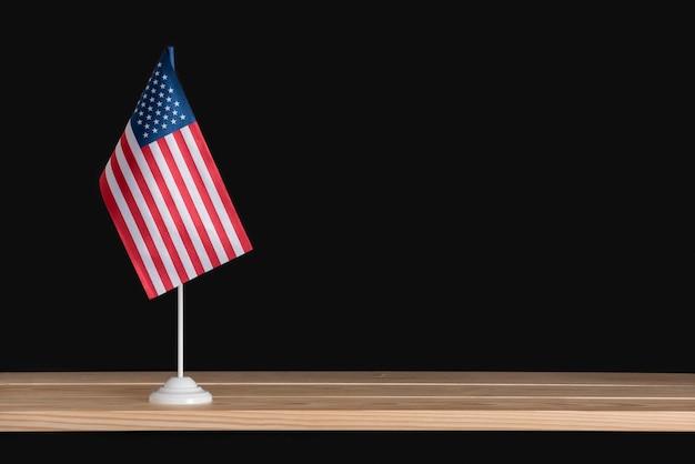 National flag of america on flag pole