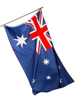 National flag of australia isolated on white background