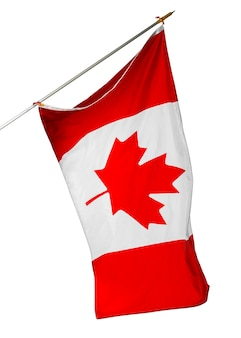 National flag of canada isolated on white