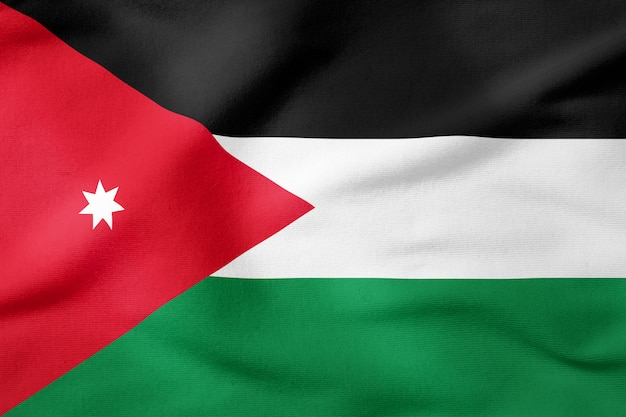 National flag of jordan - rectangular shape patriotic symbol