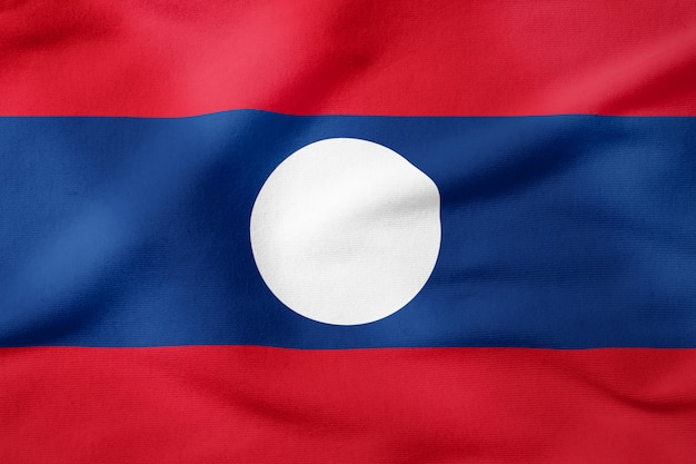 National flag of laos - rectangular shape patriotic symbol