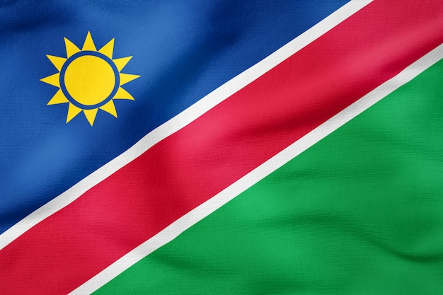 National flag of namibia - rectangular shape patriotic symbol