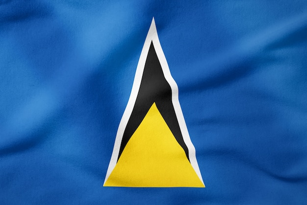 National flag of saint lucia - rectangular shape patriotic symbol