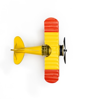 National flag of spain travel metal toy plane isolated on white