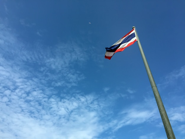 The national flag of thailand