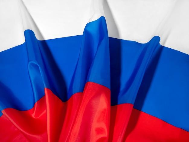 국경일 6월 12일은 러시아의 날입니다. 러시아 국기 클로즈업입니다.
