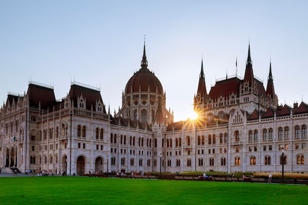 The national old parliament in budapest hungarian