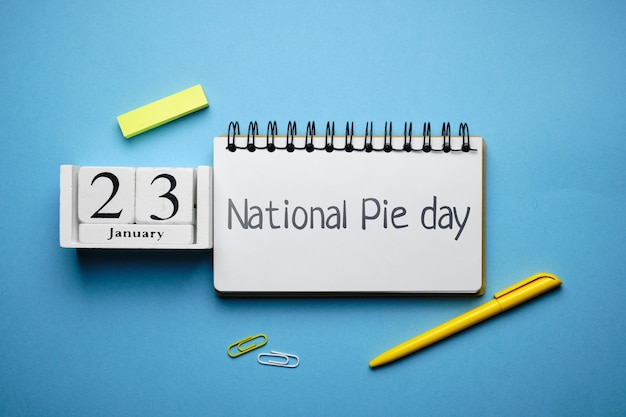 National pie day of winter month calendar january.