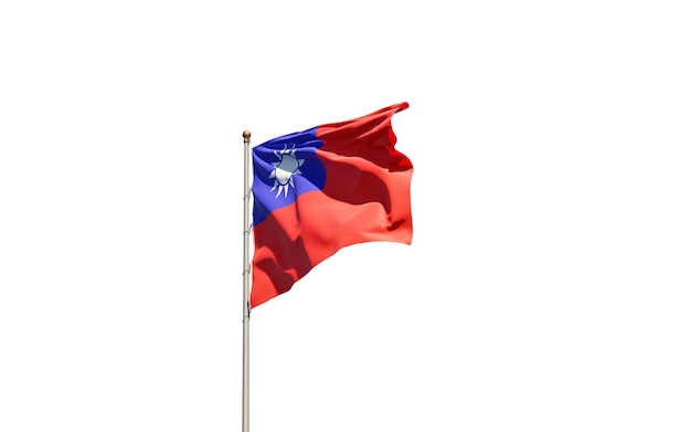National state flag of taiwan