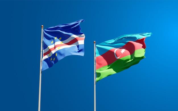Национальные государственные флаги азербайджана и кабо-верде