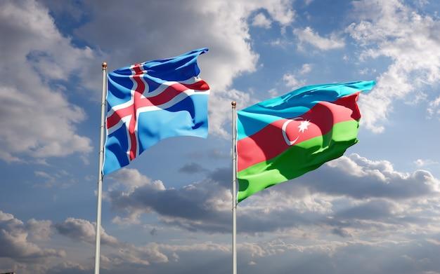 アイスランドとアゼルバイジャンの国旗