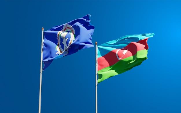 북 마리아나 제도와 아제르바이잔의 국가 국기