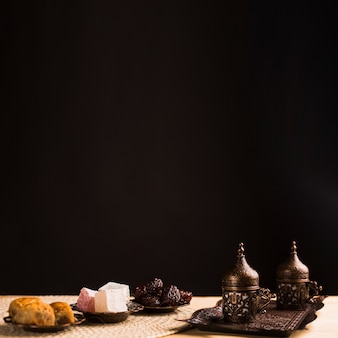 National sweets and coffee set